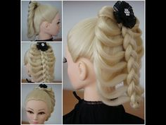 Cage Braid / Hair Tutorial Created With A ChopStick - YouTube