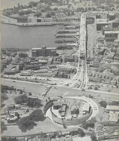 Cahill Expressway 1957 Modern Pictures, Old Pictures, Old Photos, The Rocks Sydney, Sydney Area, Sydney New South Wales, Train Tunnel, Aboriginal History, Historical Architecture