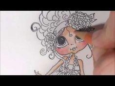 Coloring \'My bestie\' part 2 - how to color flowers - prismacolor ...