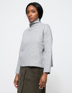 Felted Turtleneck Sweater