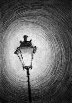 Old Street Lamp Drawing by Di Fernandes