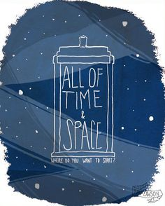 """All of Time & Space"" Doctor Who Art Print"