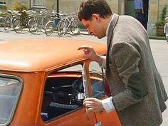 Mr Bean - Reliant Robin Crash, First Ever