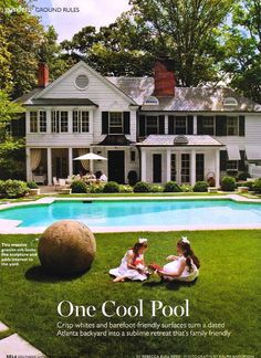 White House with Black Shutters Southern Living. Love all this except the little girls in dresses & big bows....not my thing.