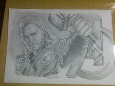Ilustração Thor  pin up -Edi santos Thor pin up illustration -Edi santos