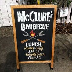 "Apparently a ""pop up"" place. Not many BBQ spots so will have to track this one down :)  http://www.facebook.com/mccluresbarbecue?ref=ts"