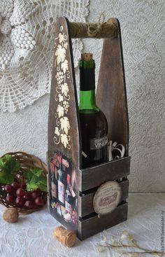 Короб для вина `Старый погреб`. Подставка для вина. Коробка для вина. Винный короб. Купить короб для вина, упаковка подарка, упаковка винной бутылки. Подарок мужчине