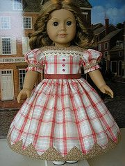 summer plaid1  Here is 'Summer Plaid', an 1860s gown with an appliqued vandyke hemline. The dress is made of high...
