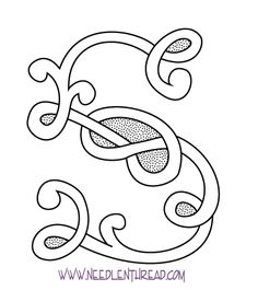 Monogram for Hand Embroidery: Celtic S – Needle'nThread.com