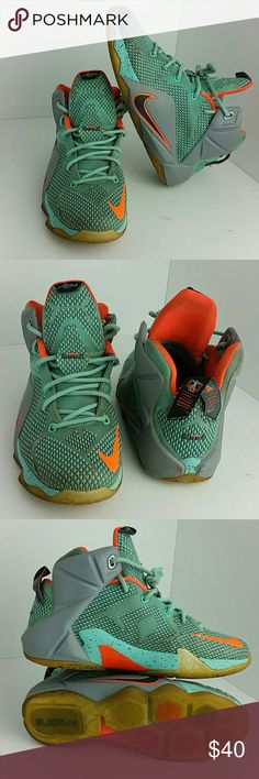 30f1b12ed0154 NIKE LEBRON 12 BOYS SHOES IN GOOD CONDITION WITH SCUFFS ON THE SOLE YOUTH  SIZE 7Y BIG KIDS SKE   TV NIKE Shoes Sneakers