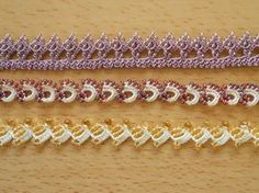 This post was discovered by T. Bead Crochet, Crochet Lace, Tatting, Knots, Projects To Try, Cross Stitch, Embroidery, Beads, Bracelets
