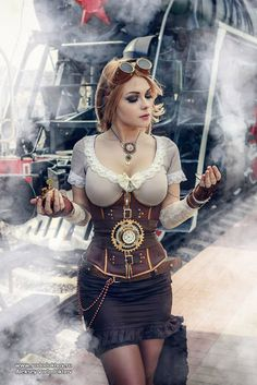 The Steampunk Fashion Guide -- Sexy Steampunk Train Traveler - (women's steampunk clothing)