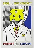 Jobs...Not Cheese! Moffett for Senator par Roy Lichtenstein