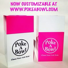Mix 'n Match your very own Poke A Bowl® Travel Box™! Smokeables™ Container included! Shop www.PokeABowl.com - Clean Your Ash Hole®