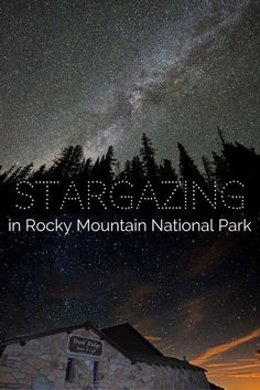 The beauty of Rocky Mountain National Park doesn't disappear at night. don't miss out on seeing all these stars! Definitely add stargazing in RMNP to your Colorado To-Do List! Rocky Mountains Colorado, Colorado Hiking, Colorado Springs, Trail Ridge Road Colorado, Estes Park Colorado, Colorado National Parks, Us National Parks, Denver Travel, Travel Usa