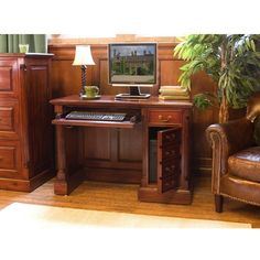 Part of our exclusive La Roque Mahogany furniture collection Hand crafted from highest grade solid Mahogany Environmentally friendly - Our mahogany is sustainable and sourced from managed plantations Finished to excepti Computer Desks For Home, Home Desk, Home Office Furniture, Used Woodworking Tools, Woodworking Plans, Sketchup Woodworking, Woodworking Basics, Mahogany Furniture, Desks For Small Spaces