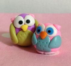 Make polymer clay owls - Follow @Guidecentral for #craft and #DIY projects