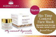 Novedades @alohanatura! Bio-Time Control Face Mask #Mascarilla facial Anti-Age Piel seca, normal y mixta