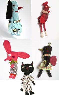 Lovely French creatures http://knuffelsalacarteblog.blogspot.nl/