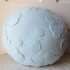 Full Moon Pillow Moon Plush 16 pillow round by WildRabbitsBurrow, $28.00