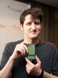 Zach Woods from The Office with Fancy Designs' Peacock iPhone 4 Case.  Love The Office, Love the case!