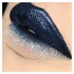 Blau und graue Lippen