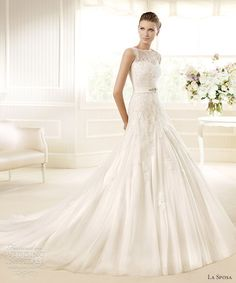 la sposa 2013 wedding dress minue sleeveless a line