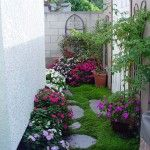 a beautiful flower garden in a very tight space....it can be done!