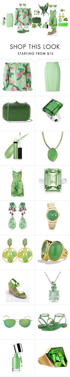 """""""She loved my little green fairy"""" by blujay1126 ❤ liked on Polyvore featuring Isolda, Guy Laroche, Judith Leiber, StyleRocks, Butter London, Stella & Dot, Plein Sud Jeanius, Tiffany & Co., Wendy Yue and Marc by Marc Jacobs"""