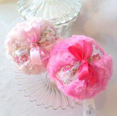 Body Powder Puff - pink bath pouf. Pick a color by BonnyBubbles, $11.95