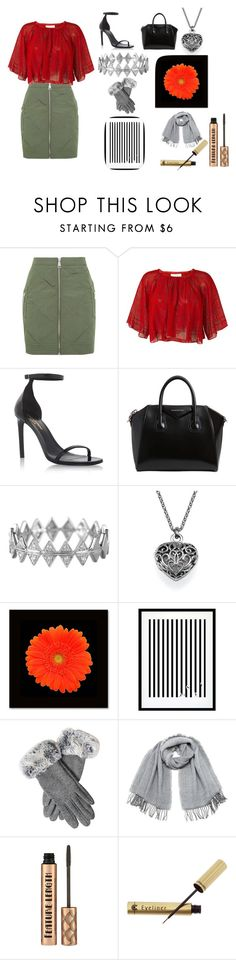 """""""christmas at the office or something"""" by cj34turtles on Polyvore featuring Topshop, IRO, Yves Saint Laurent, Givenchy, Bony Levy, Eleanor Stuart, Vero Moda and Dr.Hauschka"""