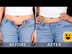 It's time to upgrade your looks with these awesome clothing hacks! Blossom presents super cool diy videos which you can create at home.Over 10 Amazing Folding Clothes Life Hacks will Save Your RoomClever Towel Ideas, Hacks AndMake Your Pants Fit Better! Diy Clothes Life Hacks, Clothing Hacks, Sewing Hacks, Sewing Tutorials, Sewing Tips, Diy Jeans, Techniques Couture, Sewing Stitches, Useful Life Hacks