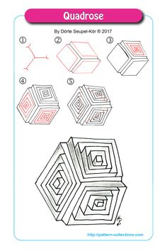 Ideas drawing ideas step by step doodles zentangle patterns Zentangle Drawings, 3d Drawings, Doodles Zentangles, Zentangle Patterns, Doodle Drawings, Zen Doodle Patterns, Art Zen, Zantangle Art, Art Doodle
