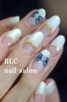 The color doesn't even matter. 3d Nail Art, Kawaii Nail Art, Nail Art Hacks, Posh Nails, Glam Nails, Cute Nails, Henna Nails, Cherry Blossom Nails, Avon Nails