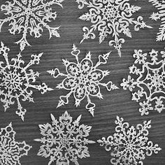 Nordic Snowflakes White Christmas : love the white and grey color scheme