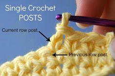 How to back post single crochet