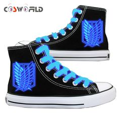 Coshome Shingeki No Kyojin Shoes Attack On Titan Cosplay Shoes High Platform Canvas Shoes Board Luminous Shoes Cosplay Outfits, Anime Outfits, Cosplay Costumes, Levi Mikasa, Otaku, Attack On Titan Levi, Titans, Cute Shoes, Manga