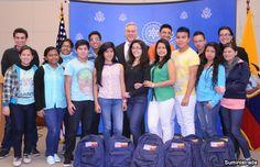 Jóvenes ecuatorianos visitan Estados Unidos