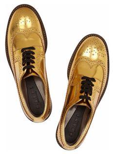 da10a0ebea5 Marni gold brogues Leather Brogues