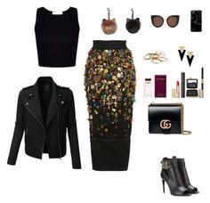 """""""Gold fall"""" by beehazz on Polyvore featuring Dolce&Gabbana, LE3NO, Burberry, Gucci, Estée Lauder, Kendra Scott, Yves Saint Laurent and STELLA McCARTNEY"""