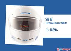 #Helmets SB-18 Technik Classic-White #riderssafety order now from www.yooshopper.com,http://www.yooshopper.com/product/16418/547/sb-18-technik-classic-white?lcId=145431