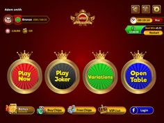 Enjoy #latest #3patti #game with great features #variations and win unlimited #chips and high bonus rate