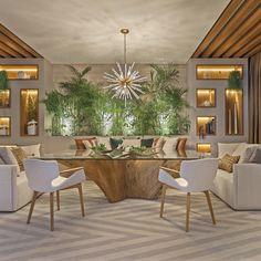 Luxury Dining Room, Dining Room Lighting, Duplex Design, House Design, Interior Design Living Room, Living Room Decor, Conservatory Design, Sala Grande, Dinner Room