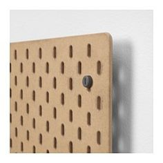 You can store things on both sides of the pegboard if you use it as a divider on a desk or in a freestanding ALGOT storage combination. Choose the accessories from the SKÅDIS series that suit your needs and create a personal storage combination. Ikea Pegboard, Pegboard Display, Pegboard Organization, Organization Ideas, Organizing, Office Storage, Wall Storage, Craft Storage, Office Setup