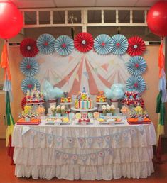 Circus/Carnival Birthday Party Ideas | Photo 2 of 21 | Catch My Party