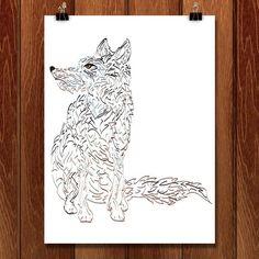 Wolf Sitting Pretty by Marcos Carvalho