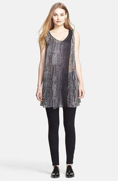 Free shipping and returns on Tracy Reese Herringbone Print Silk Tunic at Nordstrom.com. Ombré coloring emphasizes the layered-front styling of this sheer silk tunic rendered in a graphic take on a classic herringbone print.