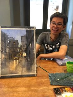 Chien Chung Wei, October 2017 Watercolor Artists, Watercolor Landscape, Watercolor And Ink, Watercolor Illustration, Watercolour Painting, Asian Paints, Building Art, Watercolours, Painting Techniques