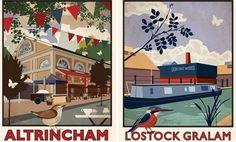Altrincham market and Lion Salt works