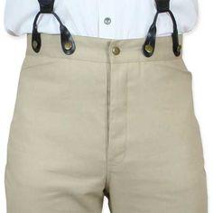 Classic Mens Trousers - Khaki Twill